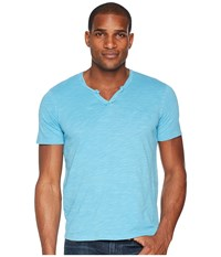 Mod O Doc Topanga Short Sleeve Notch V Neck Tee Swell Blue T Shirt