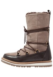 Kickers Garbou Laceup Boots Light Brown