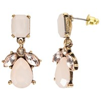 John Lewis Faceted Glass Crystal Drop Earrings Blush