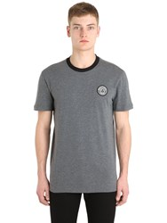 Versace Medusa Patch Cotton Jersey T Shirt