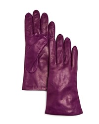 Bloomingdale's Leather Gloves Purple