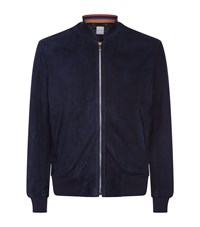 Paul Smith Suede Bomber Jacket Navy
