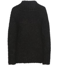 Tom Ford Mohair And Wool Blend Off The Shoulder Sweater Black