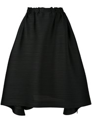 Issey Miyake Pleats Please By Pleated A Line Skirt Women Polyester 3 Black