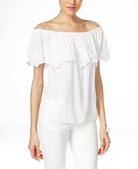 Inc International Concepts Off Shoulder Peasant Blouse Only At Macy's Bright White
