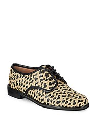 Robert Clergerie Round Toe Lace Up Shoes Natural