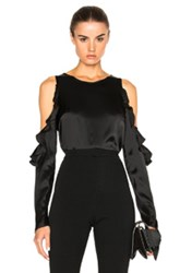 Cushnie Et Ochs Cut Out Shoulder Top In Black