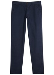 Oliver Spencer Worker Navy Straight Leg Cotton Trousers