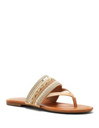 Jessica Simpson Ronnet Beaded Thong Sandals Buff