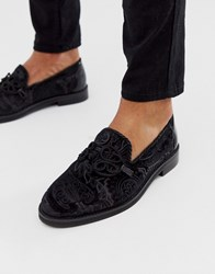 House Of Hounds Mercury Knot Loafers In Black Satin