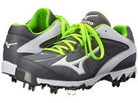 Mizuno 9 Spike Swift 4 Grey White Women's Cleated Shoes Gray