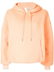 Alexander Wang T By Basic Hoodie Orange