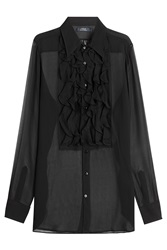 Polo Ralph Lauren Silk Blouse Black