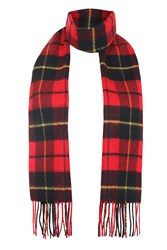 Topshop Mod Check Scarf Red