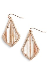 Kendra Scott Women's Alex Drop Earrings Gold Dusted Glass Rose Gold