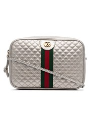 Gucci Trapuntata Quilted Leather Camera Bag Metallic