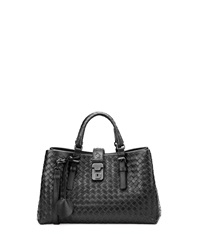 Bottega Veneta Roma Leggero Tote Bag Black