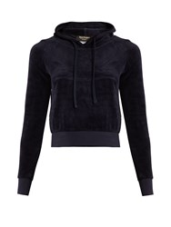 Vetements X Juicy Couture Hooded Velour Sweatshirt Navy