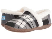 Toms Slipper Black White Plaid Women's Slippers