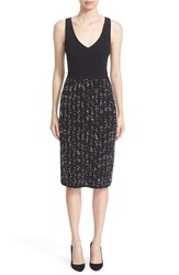 Lela Rose Women's Speckled Knit Tweed Sheath Dress
