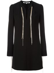 Mcq By Alexander Mcqueen Diamante Tie Dress Black