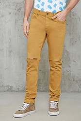 Forever 21 Raw Cut Slim Fit Jeans