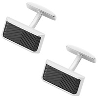 Boss Logo Boss Mell Herring Cufflinks Black