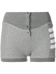 Thom Browne Compact Waffle Boxer Briefs Grey