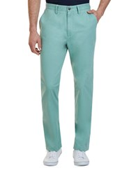 Nautica Classic Fit Cotton Deck Pants Fin Green