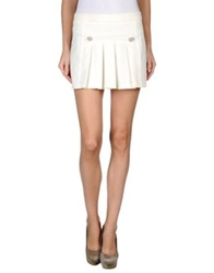 Pinko Mini Skirts Ivory