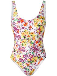 Roseanna Floral Swimsuit Women Spandex Elastane Polyimide 38 White