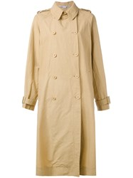 Stella Mccartney Double Breasted Trench Coat Women Polyamide 38 Nude Neutrals