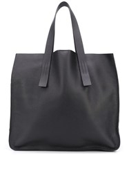 P.A.R.O.S.H. Pebbled Effect Tote Bag Black