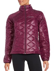 Columbia Turbodown Quilted Coat Purple Dahlia