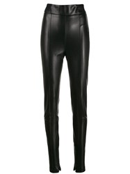 Ermanno Scervino Wet Look Leggings Black