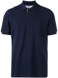 Brunello Cucinelli Basic Polo Shirt Blue