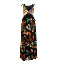 Pinko Tropical Print Maxi Dress Female Black