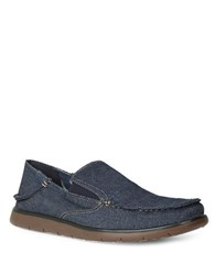 Gbx Entro Double Gore Denim Slip Ons Blue