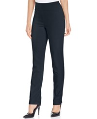 Charter Club Cambridge Tummy Control Slim Leg Pants Only At Macy's Deepest Navy