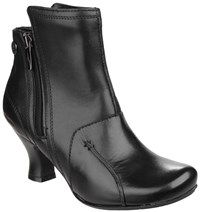 Hush Puppies Lydie Zip Up Ankle Boots Black