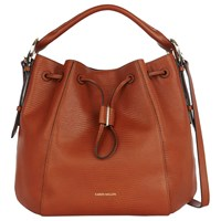 Karen Millen Lizard Drawstring Tote Bag Tan