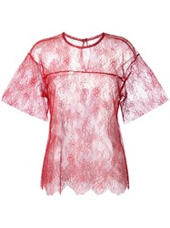 Philosophy Di Lorenzo Serafini Lace T Shirt Red