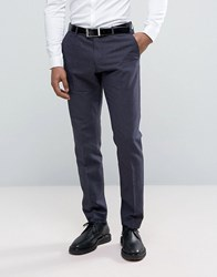 Selected Homme Slim Suit Pant In Linen Mix Navy