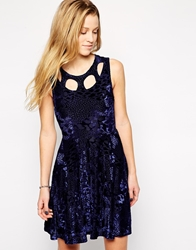Evil Twin Skater Dress With Cut Out Midnight