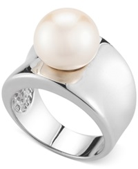 No Vendor Cultured Freshwater Pearl 11Mm Ring In Sterling Silver