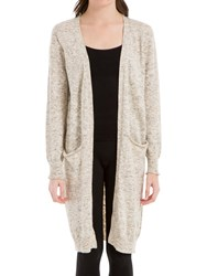 Max Studio Long Knitted Cardigan Oatmeal