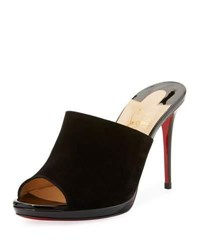 Christian Louboutin Submuline Flower Red Sole Mule Black