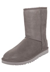Ugg Classic Short Leather Winter Boots Fea Taupe