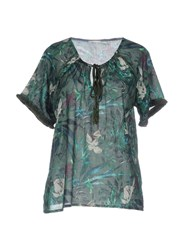 Gas Jeans Blouses Emerald Green