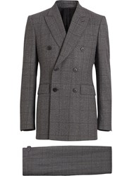 Burberry Classic Fit Prince Of Wales Check Wool Suit Grey
